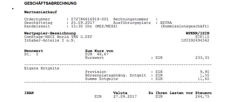 Comdirect ETF Kauf