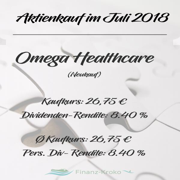 Aktienkauf von Omega in Juli 2018.