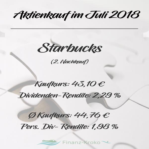 Aktienkauf von Starbucks in Juli 2018.