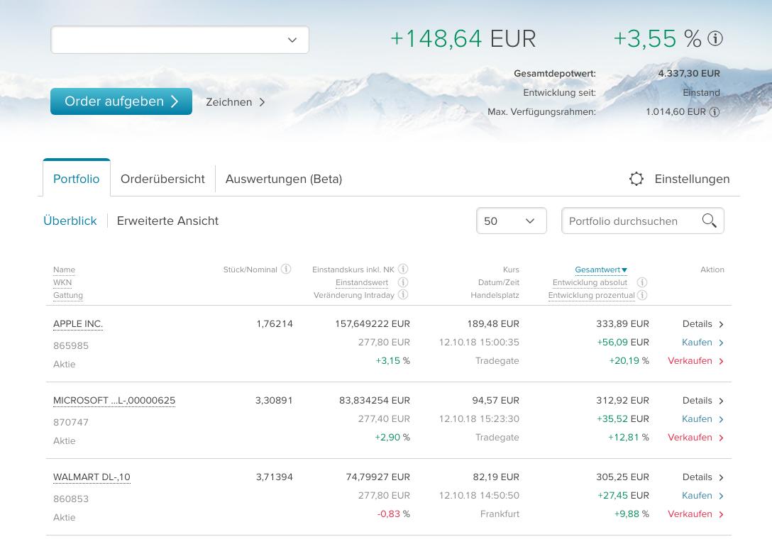 Aktien-Sparplan - Jeden Monat Dividende