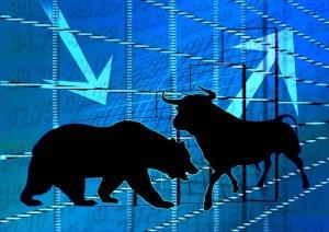 Bullenmarkt: Kurse steigen. Bärenmarkt: Kurse fallen.